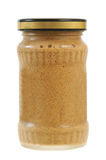 A jar of mustard Royalty Free Stock Photo