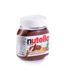 Jar of Nutella hazelnut chocolate spread Stock Photos