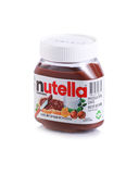 Jar of Nutella hazelnut chocolate spread Royalty Free Stock Images
