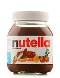 Jar of Nutella spread isolated on white Stock Images