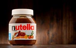 Jar of Nutella spread Stock Image