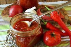 Jar Of Ketchup Royalty Free Stock Image