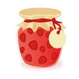 Jar Of Strawberry Jam Stock Image