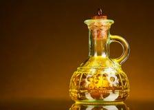 Jar of oil Stock Photo