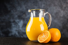 Jar of orange juice Stock Photo