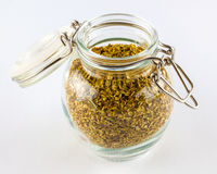 Jar of oregano Royalty Free Stock Photos