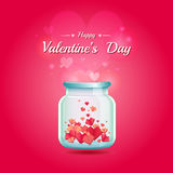 Jar of paper hearts Stock Photography