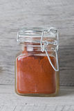 Jar of paprika Stock Photography
