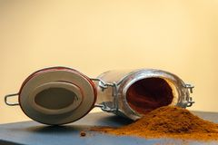 A jar of paprika stock photography