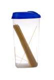 Jar of pasta Stock Photography