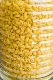 Jar with pasta - close up view Royalty Free Stock Image