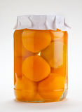 Jar of peaches Stock Photography