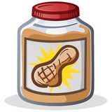 Jar of Peanut Butter Cartoon Illustration Royalty Free Stock Images