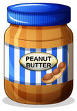 A jar of peanut butter Royalty Free Stock Images