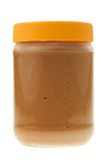 Jar of peanut butter isolated. On a white background Stock Image