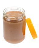 Jar of peanut butter isolated. On a white background Stock Photo