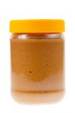 Jar of peanut butter isolated Stock Photography