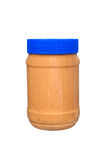 Jar of peanut butter on white Stock Photos