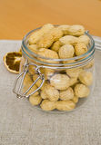Jar of Peanuts Royalty Free Stock Image