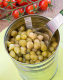 Jar of peas Stock Images