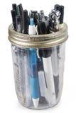 Jar of Pens Stock Photos