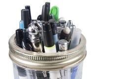 Jar of Pens Stock Images
