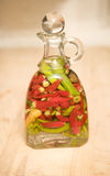 Jar of Peppers Stock Photography