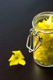 Jar with petals Stock Photos