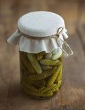 Jar of Pickled Gherkins Royalty Free Stock Image