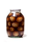 Jar of pickled onions Royalty Free Stock Images