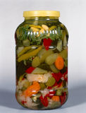 Jar Of Pickled Vegetables Stock Photo