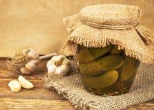 Jar of pickles Royalty Free Stock Image