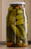 Jar of pickles. Royalty Free Stock Image