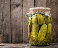Jar of pickles Stock Images