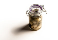 Jar of pickles Royalty Free Stock Images