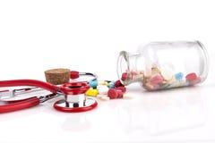 Jar of Pills Stock Photo