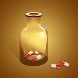 Jar with pills, Vector Royalty Free Stock Photo