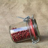 Jar with pink pepper Royalty Free Stock Photo