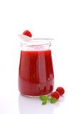 Jar with raspberry jam Royalty Free Stock Image