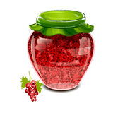 Jar of red currant jam Stock Image