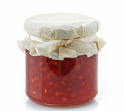 Jar of red jam Stock Images