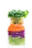 Jar salad Stock Photography