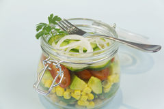 Jar Of Salad Royalty Free Stock Images