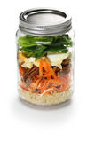 Jar salad royalty free stock photography