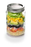 Jar salad royalty free stock photo