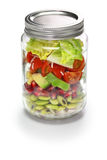 Jar salad Stock Images