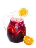 Jar of sangria wine Royalty Free Stock Photos