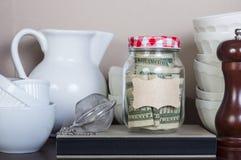 Jar with savings Stock Image