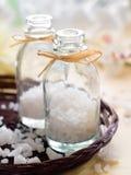 Jar of sea salt Stock Image