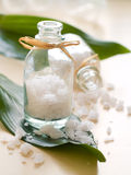 Jar of sea salt Stock Photos